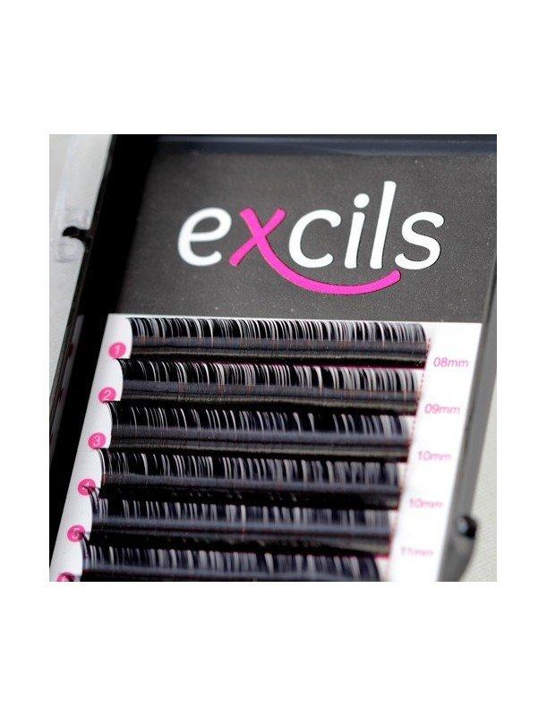 Extensions de cils D curl (courbe forte)