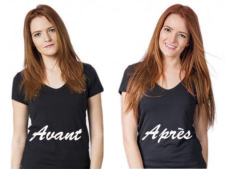 Elodie – Photos Avant Après la pose des extensions de cheveux