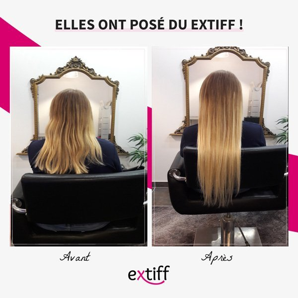 Extension de cheveux : Photos avant après