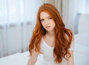 Extension cheveux marron acajou