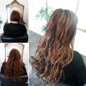 Extensions cheveux kératine