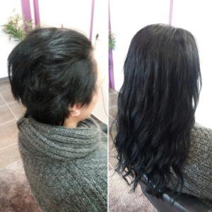 Extensions de cheveux à anneaux