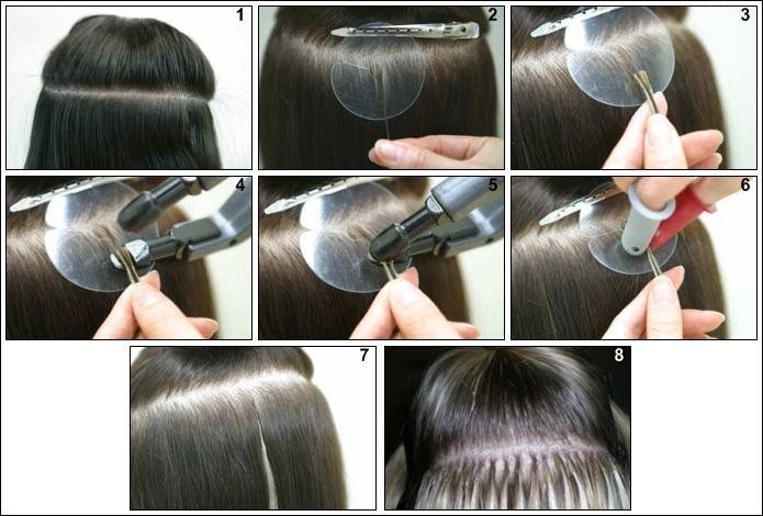 Rajout de cheveux keratine