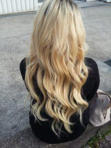 Extensions blond platine