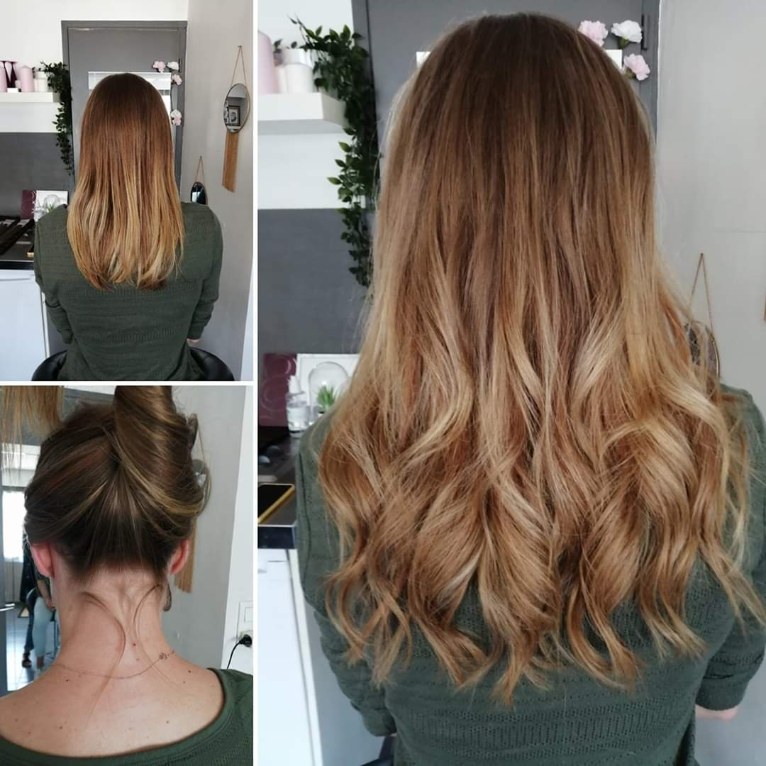 Attacher ses cheveux avec des extensions