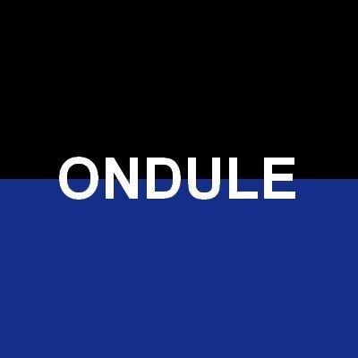 Noir/Bleu Ondulé